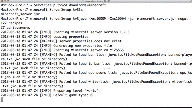 minecraft server start command download