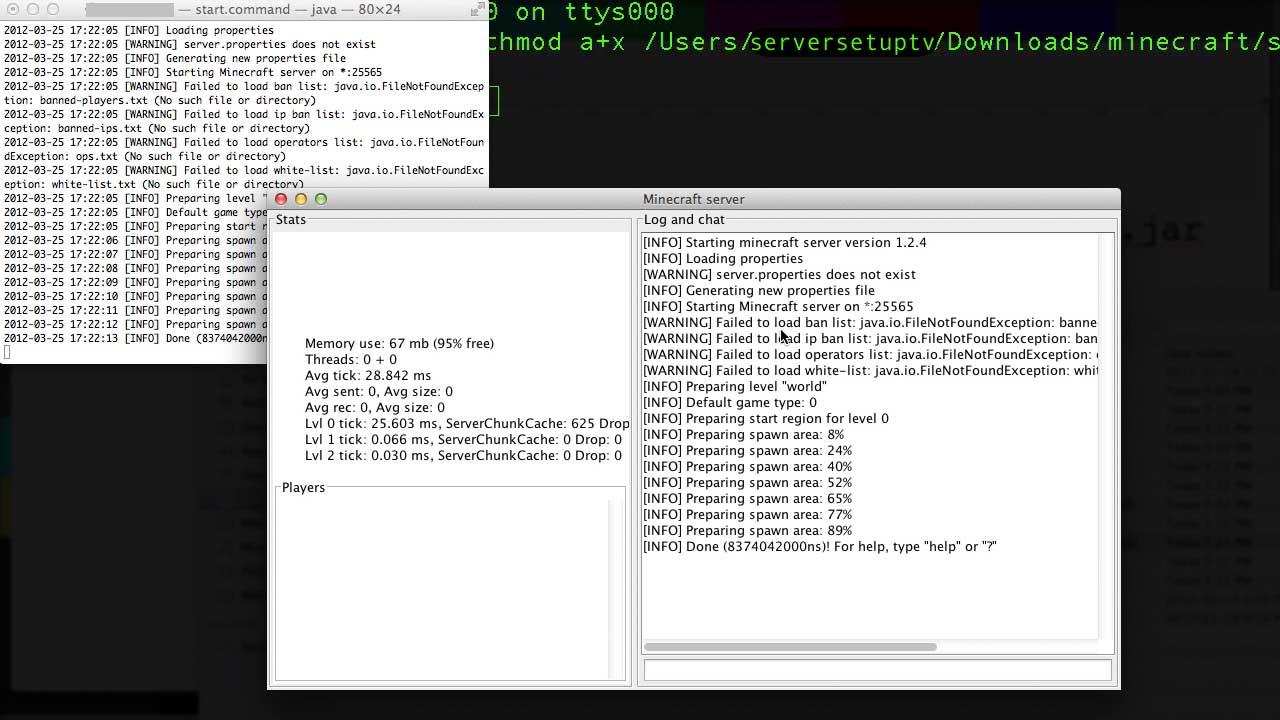 how to setup a minecraft server on mac